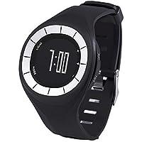 Lecxci Orologio impermeabile con contacalorie digitale per Fitness-Orologio/cronometro, contapassi, distanza per la Pace, colore: nero