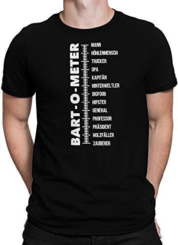 vanVerden Herren T-Shirt Bart-O-Meter Bartometer Bart Bartträger Beard Shirt, Größe:4XL, Farbe:Schwarz - Barts-kollektion