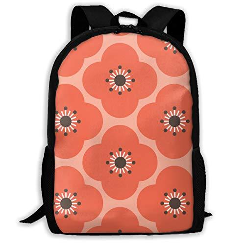 Bloom Clouds - Coral Charcoal_4463 Klassischer Rucksack Reise-Laptop-Rucksack, College-Schüler-Rucksack für Männer und Frauen -