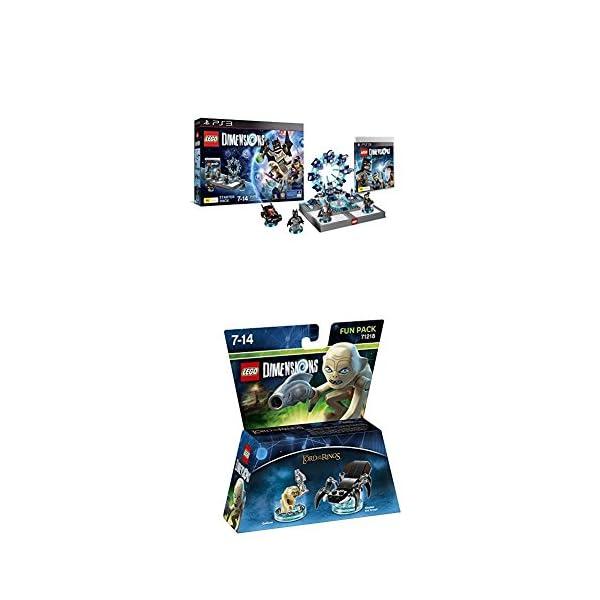 LEGO - Starter Pack Dimensions (PS3) + LEGO Dimensions - Figura El Señor De Los Anillos, Gollum 1
