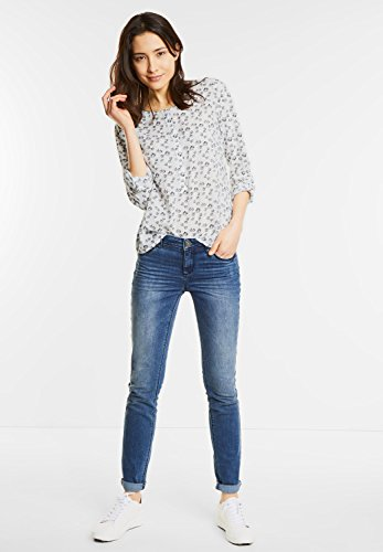 Street One - Pantalon - Femme Off White (Blue)