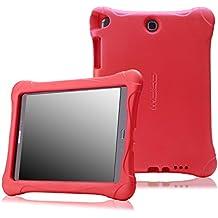 MoKo Samsung Galaxy Tab A 9.7 Funda - Kids Friendly Ultra Light Weight Shock Proof Super Protective Funda para Samsung Galaxy Tab A 9.7 Tablet, Rojo