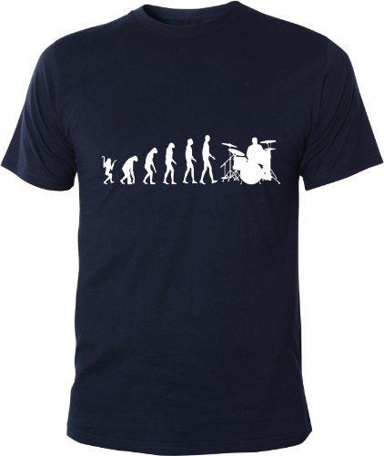 Mister Merchandise T-Shirt Evolution Drummer Trommler Schlagzeug - Uomo Maglietta