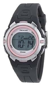 Timex -T5K3604E - Marathon- Montre de Sport Femme - Quartz Digital - Bracelet en résine gris