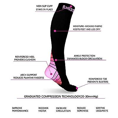 Kompressionsstrümpfe/Kompressionssocken/Compression Socks/Strümpfe Kompression/Laufsocken/Thrombosestrümpfe/für Damen Herren, Sport, Medi, Flug, Reisen, Schwangerschaft & Medizinische.