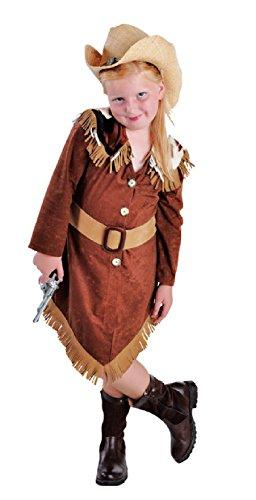 M212010-152 brauntöne Kinder Cowgirl Kleid Western Mädchen Gr.152 (Cowgirl Kinder Kleid)
