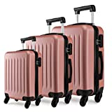 Kono Luggage Sets of 3pcs Lightweight ABS Hard Shell Trolley Travel Case