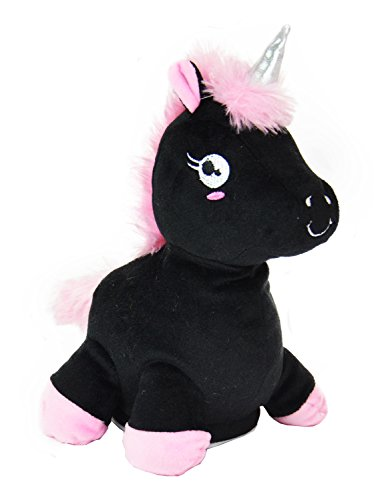 Kögler 75666-Laber-Unicornio, el Todo nachplappert-Peluche, Color Negro