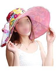 Primavera Sra CHT Y Al Aire Libre Sol Multicolor UV Sombrero Del Otoño,Pink