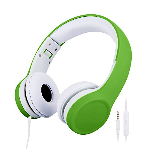 misognare, Kinder-Kopfhörer, mit Lautstärkebegrenzung grün