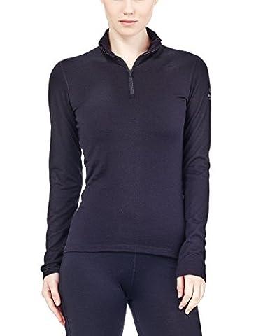Icebreaker Damen Funktionsshirt Oasis LS Half Zip, Black, L, 100515001