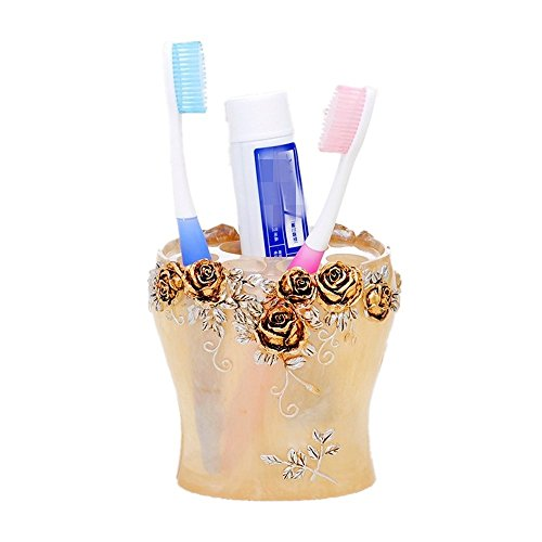 Bejoliann portaspazzolino dentifricio in resina da bagno coppia porta spazzolino portaoggetti portapenne da tavolo