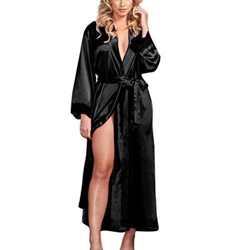 de3e3e2c355 Solike Ouvert Robe de Nuit Nuisette Sexy Femme Erotique Ensemble de  Lingeries Dentelle Séduction Transparent Longues