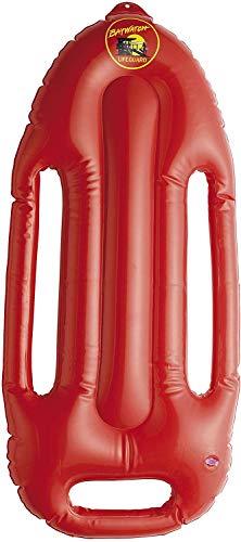 Smiffys 38085 Aufblasbares Rettungsbrett, Baywatch, 70cm, One Size, Rot