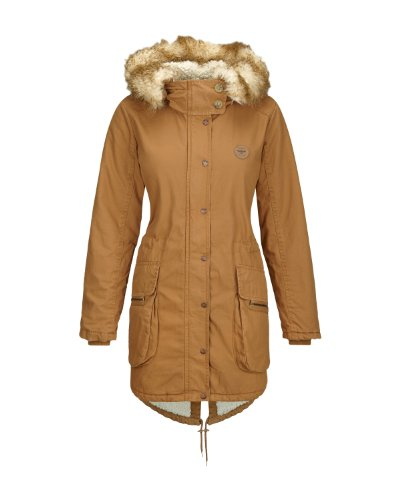 Bench - Parka Wolfish, Giacca Donna, Marrone (BR049), X-Large (Taglia Produttore: X-Large)