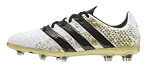 adidas Ace 16.1 Fg J, Chaussures de Foot Garçon Blanc (Ftwr White/core Black/gold Metallic)