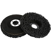 2 Unids Poly Strip Disco de Rueda Herramienta de Eliminación de óxido de Pintura Limpiador de Ángulo de Calidad Limpia Discos Negro 115mm 60#