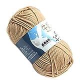 Lorsoul Multi Color Warm DIY Milch Baumwollgarn Baby-Pullover Garn Knitting Kinder Handgestrickte Strickdecke Crochet Yarn - Khaki