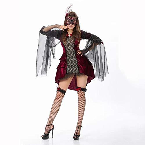(Yunfeng Hexenkostüm Damen Weihnachten Kostüme Halloween Kostüm Hexe Outfit Vampir Kostüm Party Kostüme)