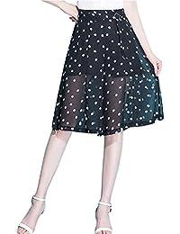 Pantalones Falda Mujer Verano Shorts Elegante Moda Estampadas Pantalones  Cortos Casual Lunares Cintura Alta Perspectiva Regalos 1f4736c6b7ea