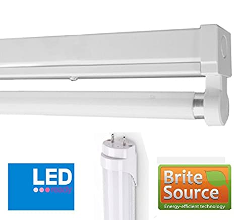 4Ft T8 Fluorescent High Frequency Batten Fitting (LED Single (With Tube))