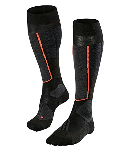 FALKE Damen ST4 Wool W KH Ski Touring Socken, Schwarz (Black-Mix 3010), 37-38