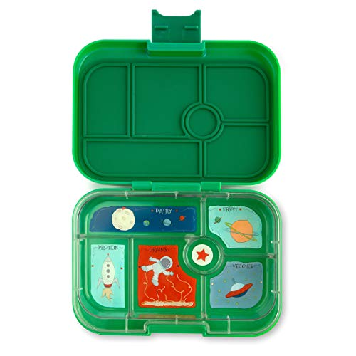nchbox (Terra Green, 6 Fächer) - mittelgroß | Brotdose mit Trennwand Einsatz | Bento Box für Kindergarten Kinder, Schule ()