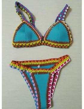 Moderno y cómodo bikini swimsuit _ elegante color manual moderno y cómodo bikini swimsuit empaquetados natación...