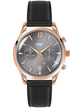 Henry London Unisex-Armbanduhr Finchley Chronograph Quarz Leder HL39-CS-0122