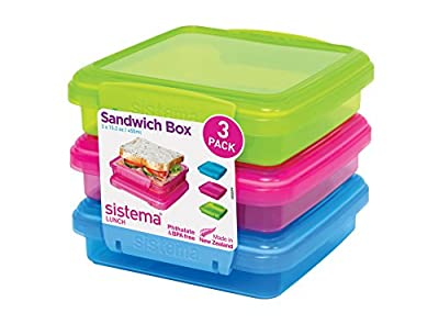 Sistema Lunch Food Storage Container - Assorted Colours
