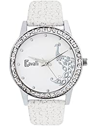 Cavalli White Dial Analog Watch- For women