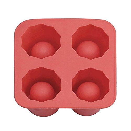 Ice Cube Tray, leicht Maker Ice Block, lebensmittelechtes Silikon Ice Form Maker, quadratisch geformte Eiswürfel Formen für Whiskey as show rot