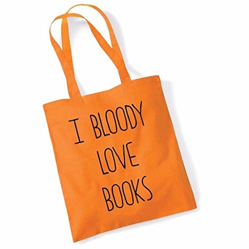 Tote bag pour femme Imprimé I Bloody Love Books imprimé sac épaule sacs en toile