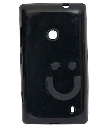 iCandy™ Imported Quality Soft TPU Smiley Back Cover For Nokia Lumia 520 / Lumia 525 - Black  available at amazon for Rs.190