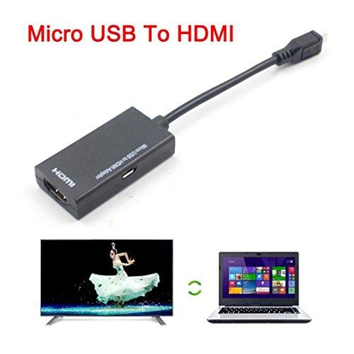 HKFV Micro USB zu HDMI Adapter Kurze Kabel für LG für HTC für Sony für Samsung HDTV USB zu HDMI Adapter für LG, HTC, Sony, Samsung HDTV Hdtv-kit