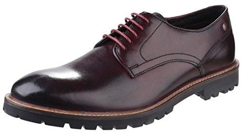 Base London Mens Barrage Washed Derby Bordeaux Leather Shoes 42 EU