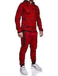 MT Styles ensemble pantalon de sport + sweat-Shirt jogging survêtement R-739