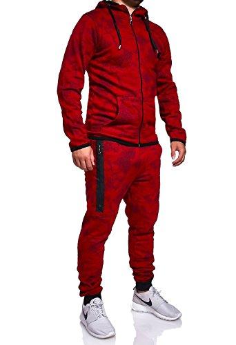 MT Styles Trainingsanzug mit Zipper Hose R-739 [Rot, L]