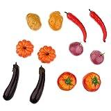 Non-Brand Montessori Gemüse Matching Learning Kartoffel Pfeffer Grünen Kürbis Aubergine und Karotten Kinder Spielzeug Geschenk