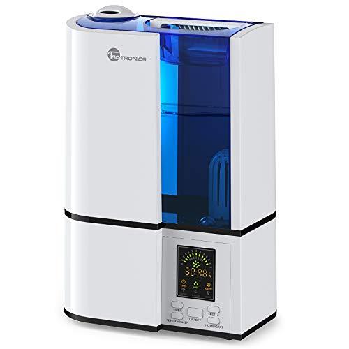 TaoTronics Luftbefeuchter Ultraschall Befeuchter 4L, 30h Betriebsdauer, Einstellbare Feuchtigkeit, Schlafmodus, Niedrigwasserschutz, LED-Anzeige, Leise für Schlafzimmer, Wohnzimmer(10-30㎡) -