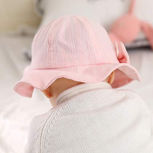 Chapeau chapeau de pêcheur infantile nouveau chapeau de pêcheur printemps été enfants mignons chapeau chapeau de bassin bébé parasol chapeau rose clair 50cm