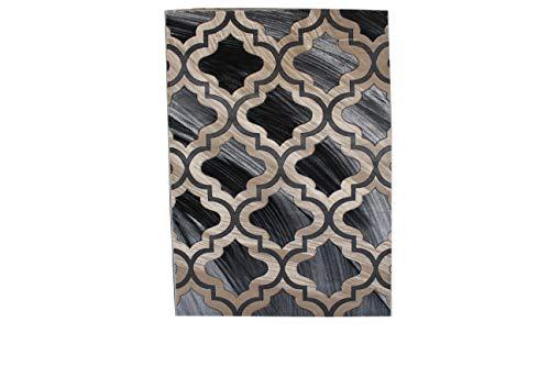Luxus Bettwäsche Kollektion Abstarct contemprary Moderne Geometrische handgeschnitzt Tief Muster Bereich Teppich Hochflor Heat Set New p4691 5'X7' Grau -