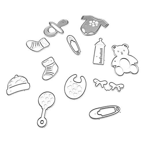 Nankod Stanzschablone aus Kohlenstoffstahl, für Babypflege, zum Basteln, Scrapbooks, Lesezeichen, Kartendekoration