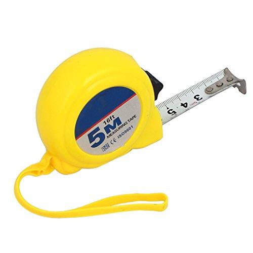 Aexit 5M Geometrie & Messen 16Ft Plastik Shell Einziehbares Lineal Daumenschloss Maßbänder messen Maßband