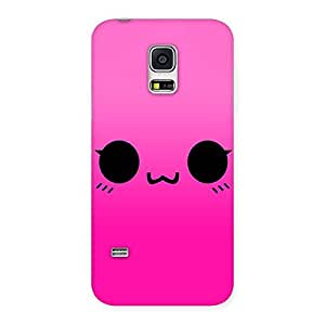 Delighted Pink Smile Face Back Case Cover for Galaxy S5 Mini