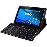 """Bogo LifeStyle BO-LF10KBBT - Funda stand (piel sintética) con teclado de aluminio extraíble para tablet 3G de Bogo QC de 10,1"""", negro"""