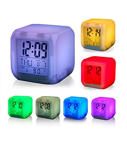Flying Birds New Colour Changing LED Digital Alarm Clock with Date, Time, Temperature For Office Bedroom