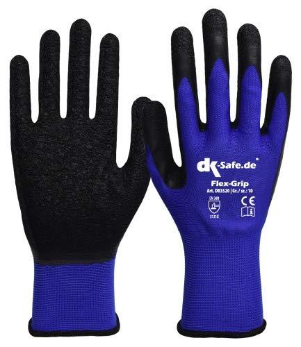 DK-Safe Flex-Grip Nylotex 3520 Nylon-Latexhandschuhe Arbeitshandschuhe 12 PAAR Größe 10 (XL) Herren Standard (Herren Grip Arbeitshandschuhe)