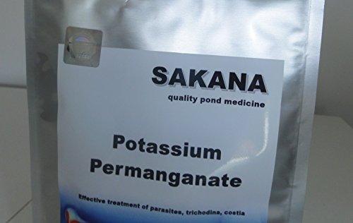 Permanganato di potassio Sakana 250g Koi trattamento, stagno, acquario, acquario