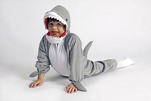 Kinder Kostüm Plüsch Overall Hai zu Karneval Fasching (Kostüm Hai Kinder)